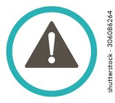 warning vector icon. this... | Shutterstock .eps vector #306086264