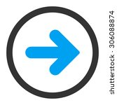 arrow right vector icon. this...