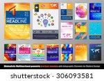 abstract geometric brochure... | Shutterstock .eps vector #306093581