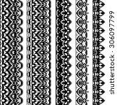 black lacy vintage elegant... | Shutterstock .eps vector #306097799