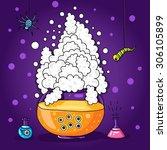 halloween illustration for...   Shutterstock .eps vector #306105899