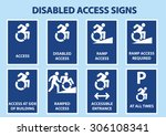 disabled access signs with...   Shutterstock .eps vector #306108341