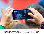 edinburgh  scotland   august 8  ... | Shutterstock . vector #306110105