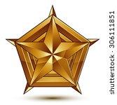 geometric vector classic golden ... | Shutterstock .eps vector #306111851