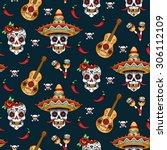 mexican sugar skulls with chili ...