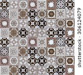 ceramic tiles patterns from... | Shutterstock . vector #306124079