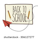 back to school digital design ... | Shutterstock .eps vector #306127277
