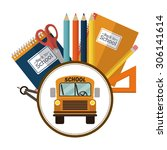 back to school digital design ... | Shutterstock .eps vector #306141614