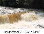 Fast Flowing Falls Of Clyde At...