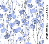 Floral Seamless Pattern Of Fla...