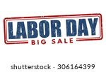 labor day big sale grunge... | Shutterstock .eps vector #306164399
