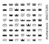 Set Of White Black Crowns....