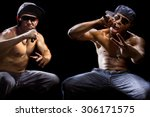 Rap Concert With Two Muscular...