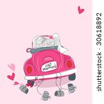 just married | Shutterstock .eps vector #30618892