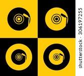 very useful icon dj icon  | Shutterstock .eps vector #306197255