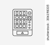 vending machine line icon | Shutterstock .eps vector #306198335