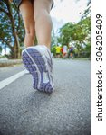 jogging for life | Shutterstock . vector #306205409