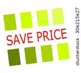 Save Price Red Stamp Text On...