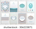 stock vector set of brochures... | Shutterstock .eps vector #306223871