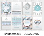stock vector set of brochures... | Shutterstock .eps vector #306223907