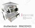an exploded view of a building | Shutterstock .eps vector #306232421