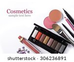 cosmetic set isolated on white | Shutterstock . vector #306236891