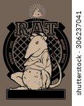 street rat   Shutterstock .eps vector #306237041