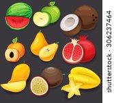fruit | Shutterstock .eps vector #306237464