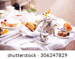 luxurious room service.... | Shutterstock . vector #306247829