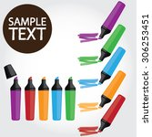 marker pen vector illustration | Shutterstock .eps vector #306253451