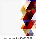 abstract geometric background.... | Shutterstock . vector #306256097