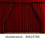 red theater curtains. realistic ... | Shutterstock . vector #30625780
