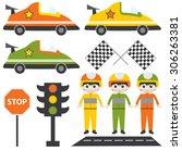 illustration of a car racing...   Shutterstock .eps vector #306263381