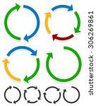circular arrows for recycle ... | Shutterstock .eps vector #306269861