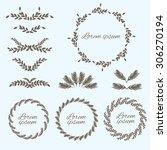 set flower ornament. design... | Shutterstock .eps vector #306270194