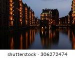 harbor at night | Shutterstock . vector #306272474
