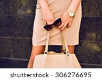 close up fashion details  young ... | Shutterstock . vector #306276695