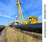 on the pipeline repairs | Shutterstock . vector #306286724