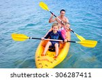 a happy family  dad and his... | Shutterstock . vector #306287411