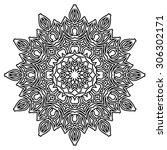 ornamental round floral pattern | Shutterstock .eps vector #306302171