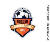 football logo design   soccer ... | Shutterstock .eps vector #306302567