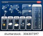 weather forecast widgets... | Shutterstock .eps vector #306307397