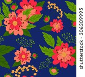 seamless floral pattern. | Shutterstock .eps vector #306309995
