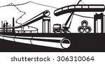 construction of industrial... | Shutterstock .eps vector #306310064
