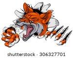 an illustration of a fox animal ... | Shutterstock .eps vector #306327701
