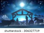 traditional christian christmas ... | Shutterstock .eps vector #306327719