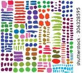 hand drawn decorative vector... | Shutterstock .eps vector #306328595