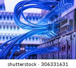 network panel  switch and cable ... | Shutterstock . vector #306331631