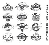 Typographic Bicycle Label...