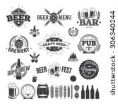 beer label and logos | Shutterstock .eps vector #306340244